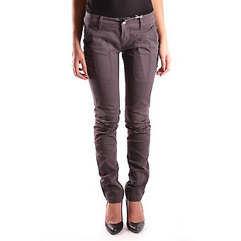 Jeckerson Ezbc069005 Women's Brown Cotton Jeans