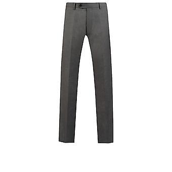 Dobell Mens Licht grauen Anzug Hose passen regelmäßige Reisen/Leistung