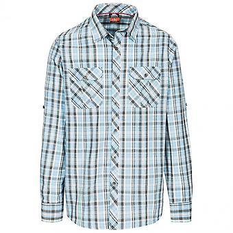 Trespass Mens Collector Long Sleeve Button Up Checked Shirt
