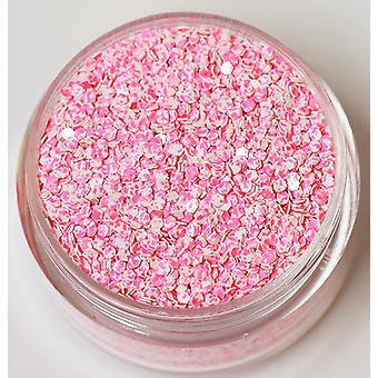 Dobbel farget Hexagon glitter blek rosa hvit