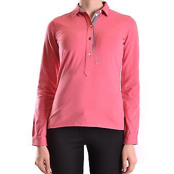 Etiqueta Negra Ezbc183009 Women's Pink Cotton Polo Shirt
