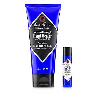 Jack Black Comfort & Joy Duo: industrial Strength Healer + o stick natural Lip Balm-Fresh Mint-2pcs