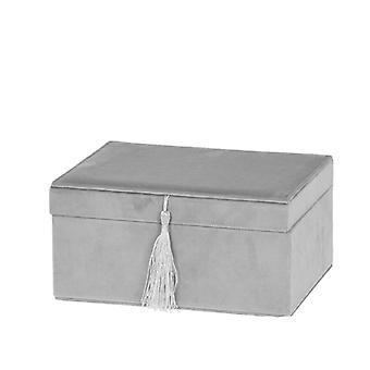 Smyckeskrin Sammet grått med vackert hänge