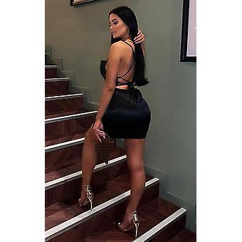 IKRUSH Womens Roisin Satin Backless Mini Dress