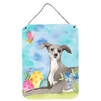Italienische Greyhound Ostern Wand oder Tür hängen Drucke