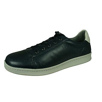 Sledgers George Mens Leather Trainers / Shoes - Navy