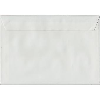 White Laid Peel/Seal C6/A6 Coloured White Envelopes. 100gsm FSC Sustainable Paper. 114mm x 162mm. Wallet Style Envelope.