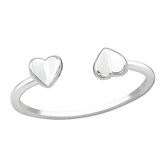 Open Heart - 925 Sterling Silver Plain Rings - W38412x