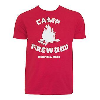 Märkä kuuma amerikkalainen miehet ' s Red Camp firewood T-paita