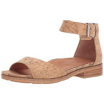 Gentle Souls Women's Gracey Flat Sandal with Ankle Strap