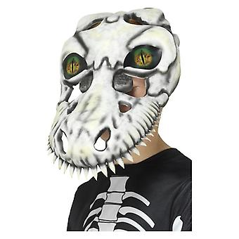 Boys T-Rex Skull Mask Halloween Fancy Dress Accessory
