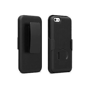 PureGear kickstand e estojo com clipe de cinto para Apple iPhone 5C-preto