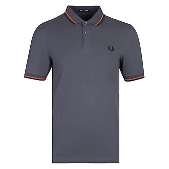 Fred Perry M3600 Charcoal grå Polo trøje