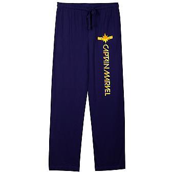Calças azuis do pijama de Unisex do símbolo do símbolo da maravilha do capitão