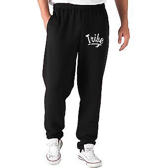 Pantaloni tuta nero fun4125 tribe indian