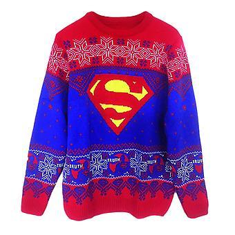 Unisex DC Comics Superman logo neulottu joulu hyppääjä