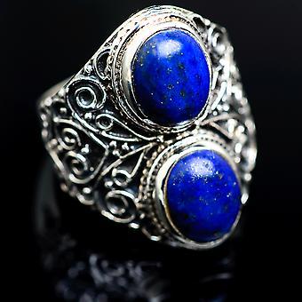 Large Lapis Lazuli Ring Size 8.25 (925 Sterling Silver)  - Handmade Boho Vintage Jewelry RING986756