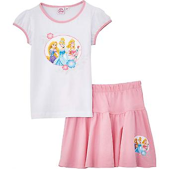 Ragazze Disney Princess Summer t-shirt e gonna Set