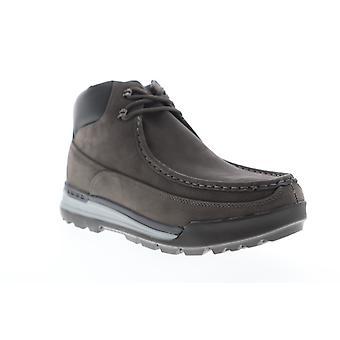 Lugz Breech  Mens Gray Nubuck Lace Up Casual Dress Boots Shoes