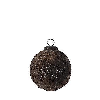 Licht & Leben Weihnachten Bauble 10cm glänzende Gläser braun