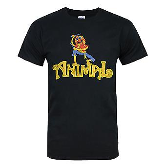 Muppets Animal Drummer Men's Black T-Shirt
