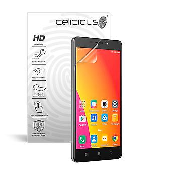 Celicious Vivid Invisible Glossy HD Screen Protector Film Compatible with Lenovo A6600 [Pack of 2]