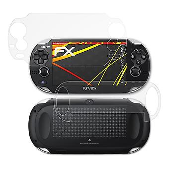 atFoliX Glass Protector compatible with Sony PlayStation Vita Glass Protective Film 9H Hybrid-Glass