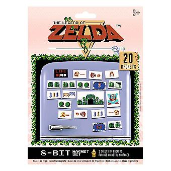 The Legend of Zelda Retro 8-Bit Magnet Set