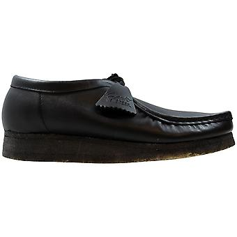 Mens Clarks formelle sko Glement Slip svart skinn UK