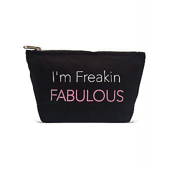 Los Angeles Trading Co 'Freakin Fabulous... ' Designer Black Pouch