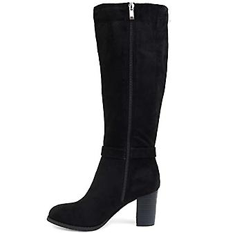 Brinley Co Comfort Womens Side Strap Riding Boot Black, 9 Regular US