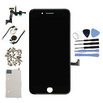 الاشياء المعتمدة® فون 7 زائد قبل تجميعها الشاشة (شاشة تعمل باللمس + LCD + أجزاء) A + جودة - أسود + أدوات