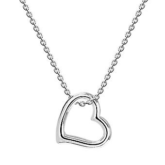 Dew Sterling Silver Large Open Heart Pendant 90C3HP