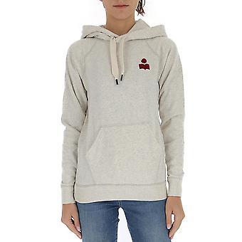 Isabel Marant ÉToile 20psw004320p035e23ec Women's White Cotton Sweatshirt