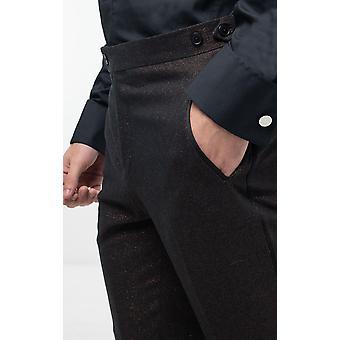 Dobell Mens Bronz Shimmer Smoching pantaloni Regular Fit