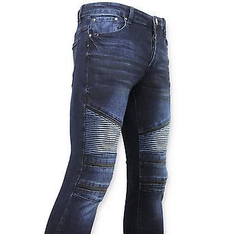 Biker Jeans - Skinny Spijkerbroek -  Blauw