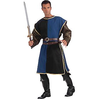 Medieval Soldier Adult Costume Blue/Black