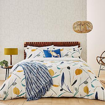 Oxalis Designer Print Bedding By Scion In Papaya Yellow