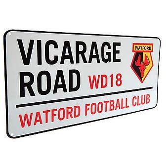 Signe de rue de chemin de vicaire de Watford FC