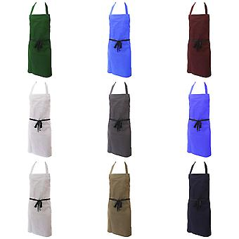 Dennys Unisex Polycotton Bib Workwear Apron Without Pocket