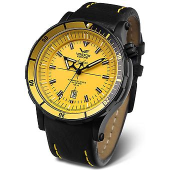 Vostok Anchar Submarine Quartz Analog Man Watch with Cowhide Bracelet NH35A-5104144