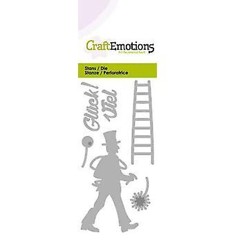 CraftEmotions Die - Viel Glück! (DE) Card 5x10cm