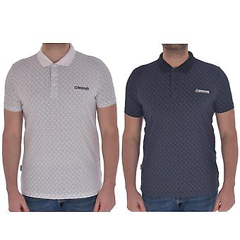 Lambretta Mens Paisley OAP Cotton Short Sleeve Casual Polo Shirt T-Shirt Top