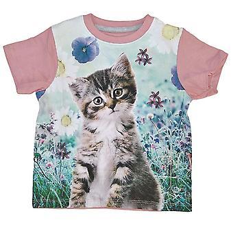 T-shirt med katt, 92/98