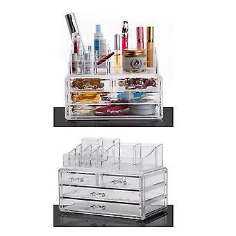 OnDisplay Kosmetische Make-up und Schmuck Aufbewahrung Fall Display - 4 Schublade tiered Design - perfekt für Badezimmer-Theke, Eitelkeit oder Kommode