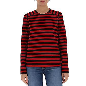 Ganni T2483099 Femmes-apos;s Chemise en coton noir/rouge