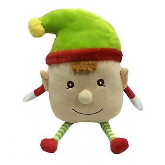 Animar Navidad Elfo Boy Face Juguete para Perros
