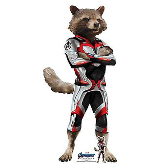 Rocket Raccoon Marvel Avengers: Endgame Official Mini Cardboard Cutout / Standee