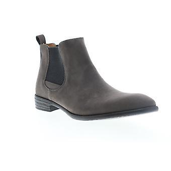 Robert Wayne Oklahoma  Mens Gray Suede Slip On Chelsea Boots Shoes