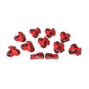 Bytomic Axis v2 Bokshandschoen 10 pack rood/zwart